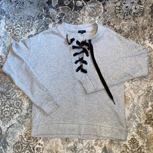 Rails pullover with lace up detail